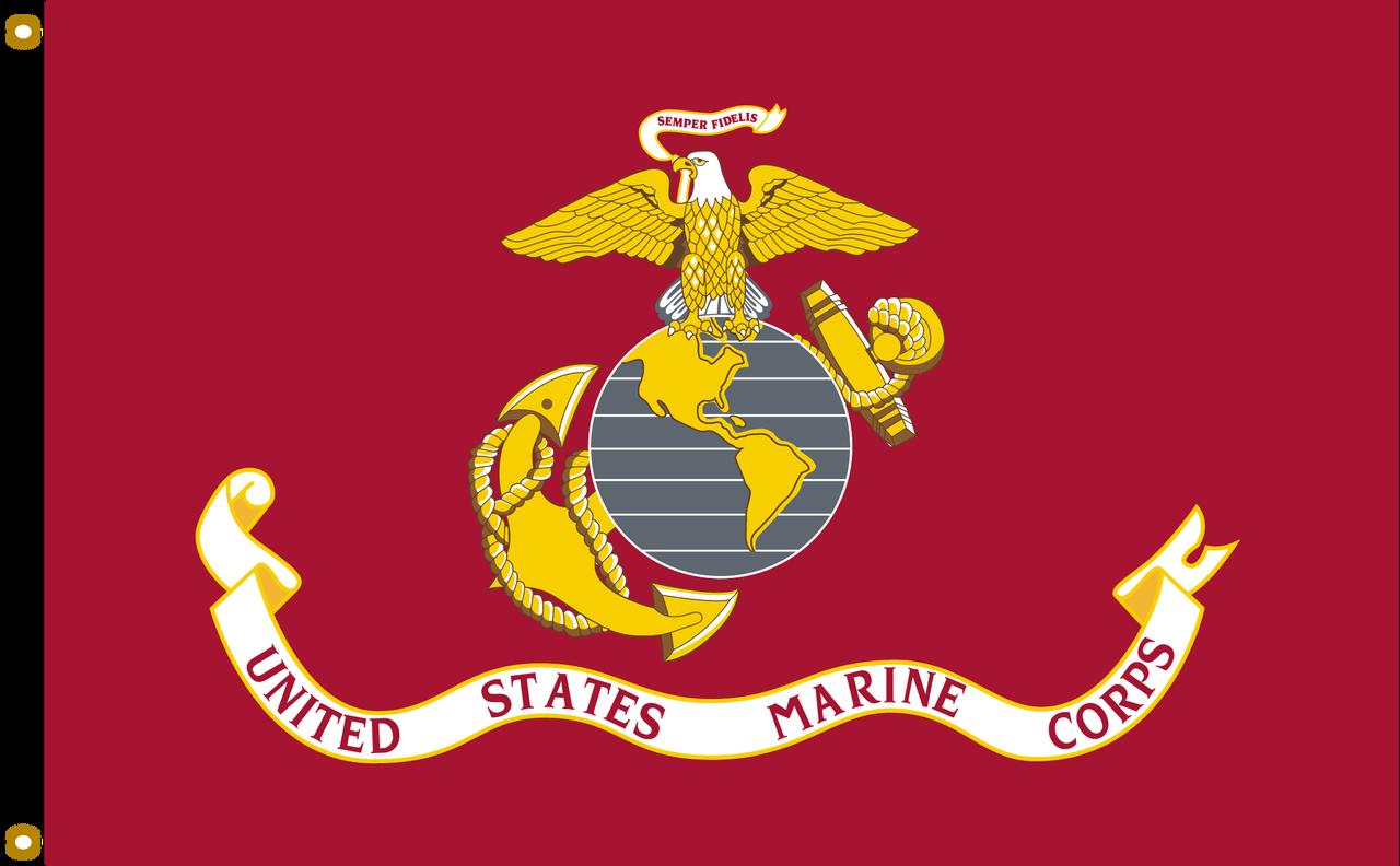 US Marine Corps 8ftx12ft Nylon Flag 8x12 Made In USA 8 x12  98b9ab85d62