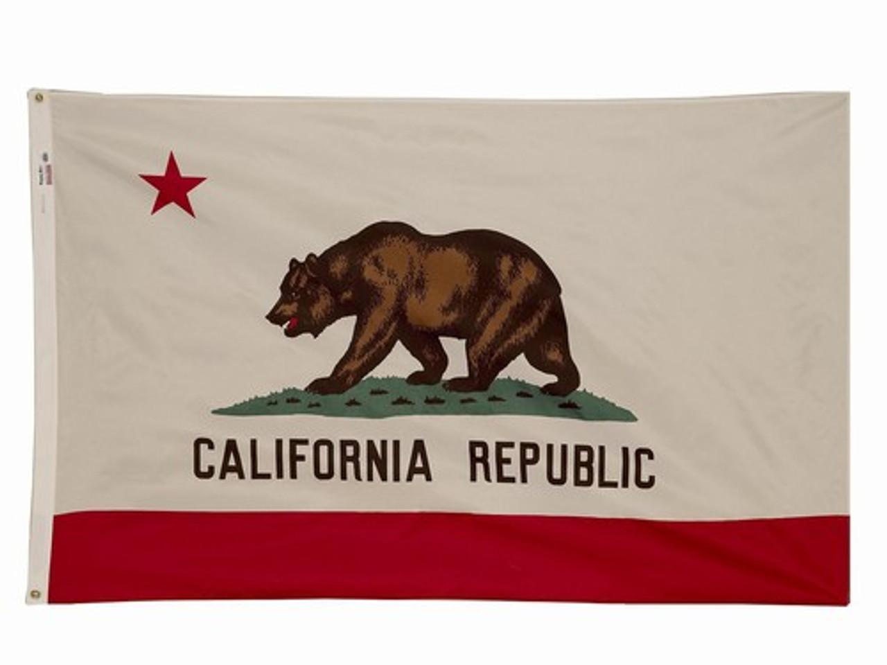 California nylon flag