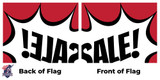 """Single Sided Reverse Flags 12""""x18"""" to 10'x15'"""