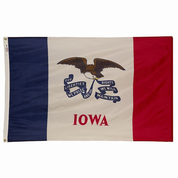 Iowa State Flag 3x5 Feet Spectramax Nylon by Valley Forge Flag 35232150