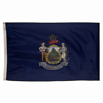 Maine State Flag 3x5 Feet Spectramax Nylon by Valley Forge Flag 35232190