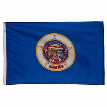 Minnesota State Flag 3x5 Feet Spectramax Nylon by Valley Forge Flag 35232230