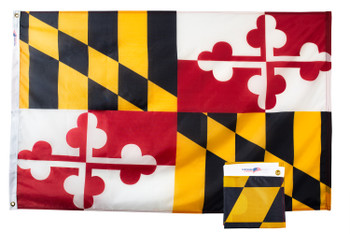 Maryland 3x5 Feet Nylon State Flag Made in USA