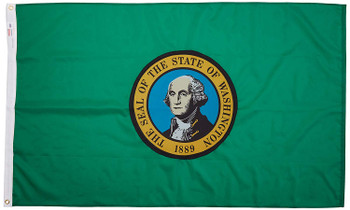 Washington State Flag 3x5 Feet Spectramax Nylon by Valley Forge Flag 35232470