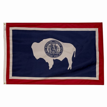 Wyoming State Flag 3x5 Feet Spectramax Nylon by Valley Forge Flag 35232500