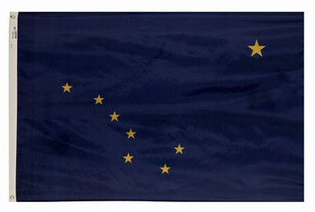 Alaska State Flag 4x6 Feet Spectramax Nylon by Valley Forge Flag 46222020