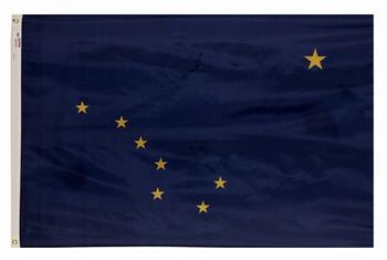 Alaska State Flag 5x8 Feet Spectramax Nylon by Valley Forge Flag 58222020