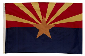 Arizona State Flag 3x5 Feet SpectraPro Polyester by Valley Forge Flag 35332030