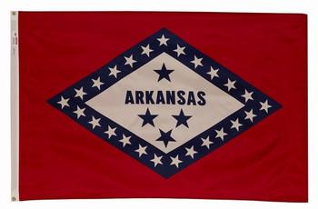 Arkansas State Flag 5x8 Feet Spectramax Nylon by Valley Forge Flag 58222040