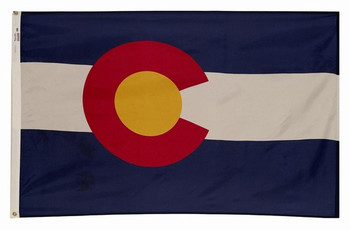 Colorado State Flag 6x10 Feet Spectramax Nylon by Valley Forge Flag 60222060