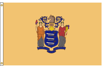 New Jersey 3'x5' Nylon State Flag 3ftx5ft