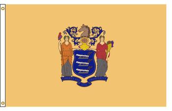 New Jersey 3'x5' Nylon State Flag 3ftx5ft