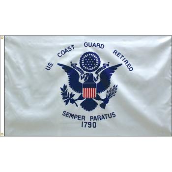 Retired Coast Guard 3x5 Feet Flag Endura-Poly 070190