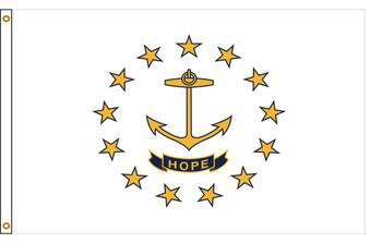 Rhode Island 3'x5' Nylon State Flag 3ftx5ft