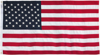 5x8 Feet Polyester US Flag By America's Flag Company 58311000II-R
