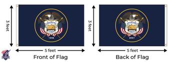 Utah 3x5 Feet Nylon State Flag Made In USA