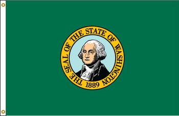 Washington 3'x5' Nylon State Flag 3ftx5ft
