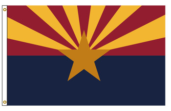 Arizona 4'x6' Nylon State Flag 4ftx6ft