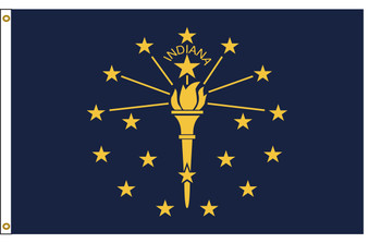 Indiana 4'x6' Nylon State Flag 4ftx6ft