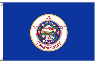 Minnesota 4'x6' Nylon State Flag 4ftx6ft