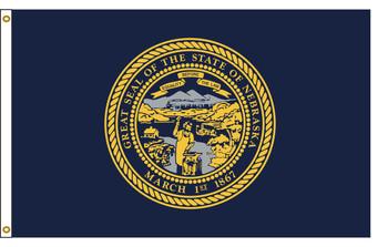 Nebraska 4'x6' Nylon State Flag 4ftx6ft