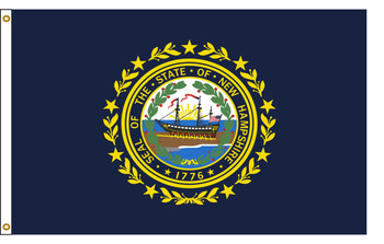 New Hampshire 4'x6' Nylon State Flag 4ftx6ft
