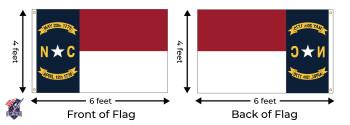 North Carolina 4x6 Feet Nylon State Flag Made In USA
