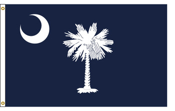 South Carolina 4'x6' Nylon State Flag 4ftx6ft