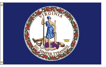 Virginia 4'x6' Nylon State Flag 4ftx6ft