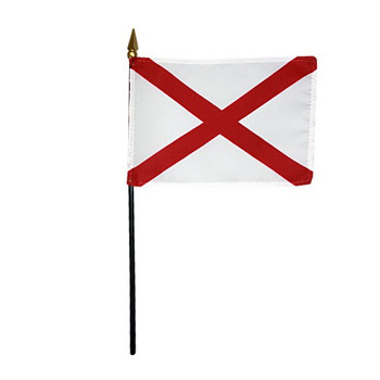 Valprin 4x6 Inch Alabama Stick Flag