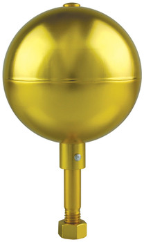 "8"" Inch Gold Aluminum Ball Flagpole Ornament"