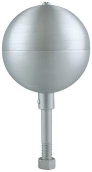 "6"" Inch Clear Aluminum Ball Flagpole Ornament"