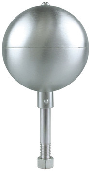 "6"" Inch Stain Aluminum Ball Flagpole Ornament"