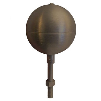 "6"" Inch Bronze #313 Aluminum Ball Flagpole Ornament"
