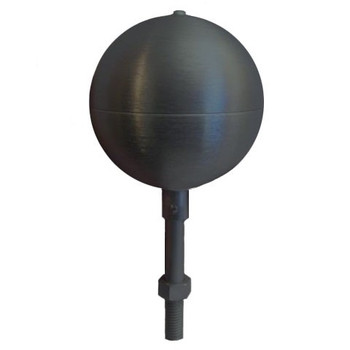 "8"" Inch Black Aluminum Ball Flagpole Ornament"
