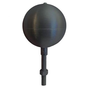 "12"" Inch Black Aluminum Ball Flagpole Ornament"