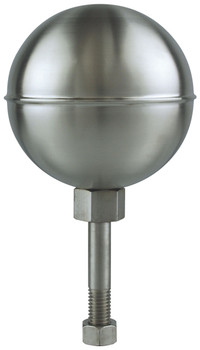 "12"" Inch Stainless Steel Satin Finish Ball Flagpole Ornament"