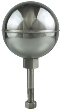 "10"" Inch Stainless Steel Mirror Finish Ball Flagpole Ornament"
