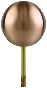 """4"""" Inch Copper Ball Flagpole Ornament"""