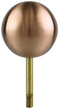 "10"" Inch Copper Ball Flagpole Ornament"