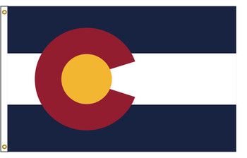Colorado 5'x8' Nylon State Flag 5ftx8ft