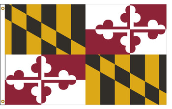 Maryland 5'x8' Nylon State Flag 5ftx8ft