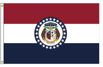 Missouri 5'x8' Nylon State Flag 5ftx8ft