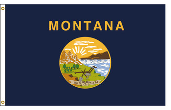 Montana 5'x8' Nylon State Flag 5ftx8ft