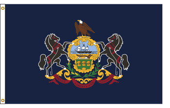 Pennsylvania  5'x8' Nylon State Flag 5ftx8ft