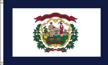 West Virginia 5'x8' Nylon State Flag 5ftx8ft