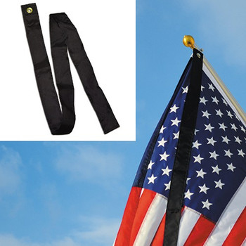 Mourning Streamer Black Mourning Ribbon 2.5 Inches x 5 Feet