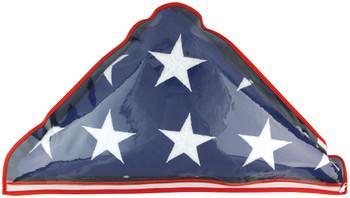 Plastic Memorial Case With Zipper Fits 5'x9.5' US Flags