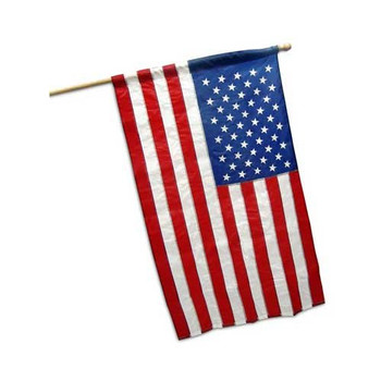 Koralex II 3'x5' Spun Polyester Banner Sleeved U.S. Flag By Valley Forge Flag