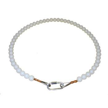 5 Inch Beaded Retainer Ring White